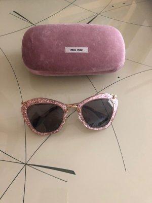 Miu Miu Gafas rosa-marrón arena