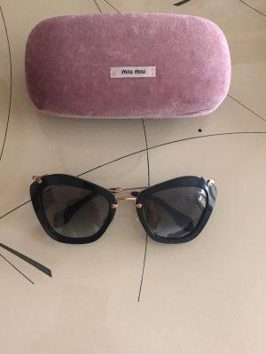 Miu Miu Gafas negro-marrón arena