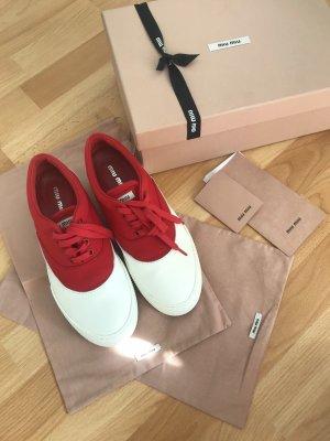 Miu Miu Sneaker bianco-rosso