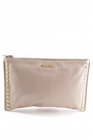Miu Miu Clutch wollweiß Casual-Look