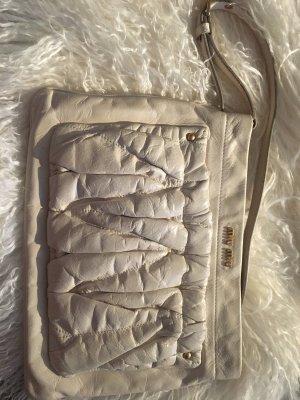Miu Miu Borsa clutch bianco-beige chiaro Pelle