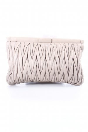 Miu Miu Clutch beige Steppmuster Party-Look