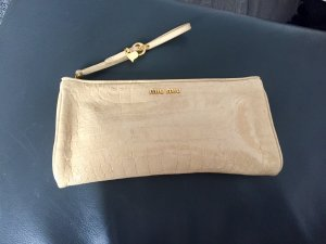 MIU MIU Clutch Croco Lackleder Nude