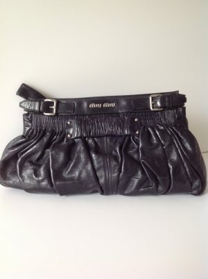 Miu Miu Clutch dark blue leather