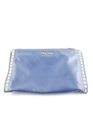 Miu Miu Bolso de mano azul acero elegante