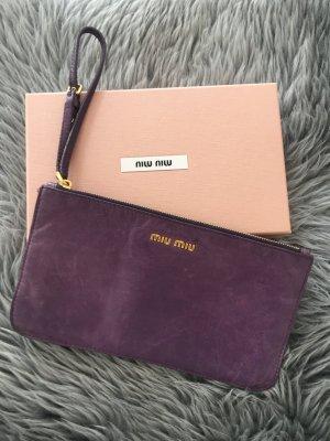 Miu Miu Clutch Tasche viola lila prada
