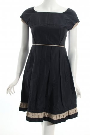 Miu Miu Cocktailkleid schwarz-hellbeige schlichter Stil