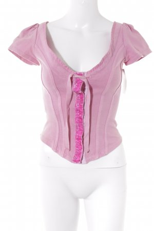 Miu Miu Corsage Top pink-magenta casual look