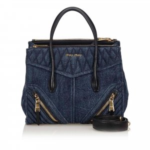 Miu Miu Denim Biker Bag