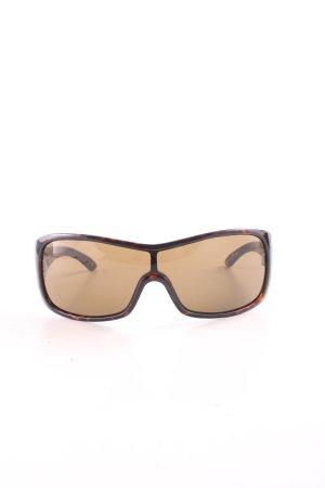 Miu Miu eckige Sonnenbrille braun-hellorange Allover-Druck Casual-Look