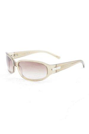 Miu Miu eckige Sonnenbrille beige klassischer Stil