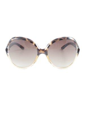 Miu Miu Angular Shaped Sunglasses light brown-black animal pattern simple style