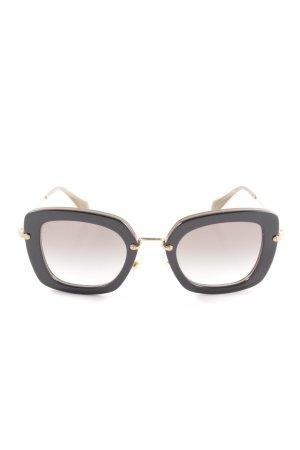 Miu Miu Angular Shaped Sunglasses black-gold-colored casual look