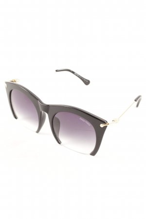 Miu Miu Angular Shaped Sunglasses black-gold-colored extravagant style