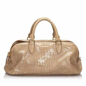 Miu Miu Embossed Leather Handbag