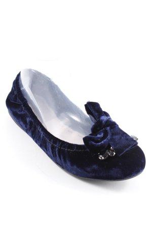 Miu Miu faltbare Ballerinas dunkelblau-schwarz Elegant