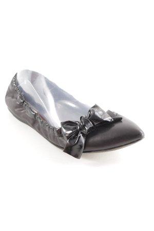 Miu Miu faltbare Ballerinas schwarz Elegant
