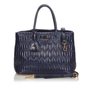 Miu Miu Gathered Leather 2 Way Handbag