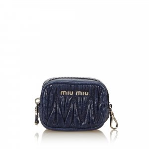 Miu Miu Gathered Leather Coin Pouch