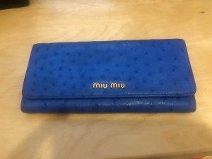 Miu Miu Geldbörse Blau