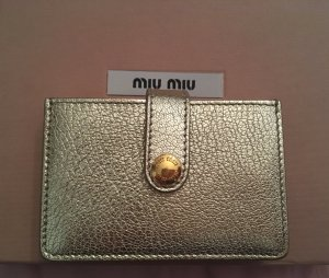 Miu Miu Card Case gold-colored