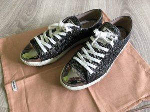 Miu Miu Glitter Sneaker grau/anthrazit