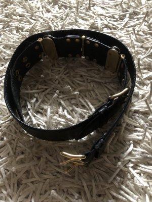Miu Miu Cintura di pelle nero-oro