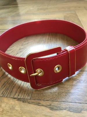Miu Miu Gürtel in Rot mit goldenen Details