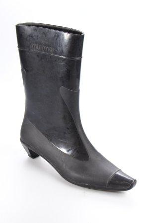 Miu Miu Gummistiefel schwarz extravaganter Stil