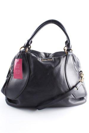 Miu Miu Handtasche schwarz-goldfarben klassischer Stil