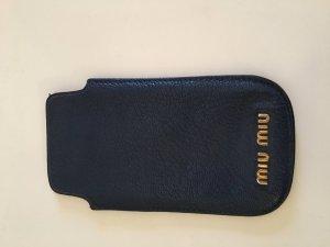 Miu Miu Hoesje voor mobiele telefoons blauw Leer
