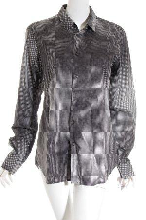 Miu Miu Hemd-Bluse schwarz-weiß Punktemuster Casual-Look