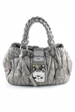 Miu Miu Carry Bag grey brown business style