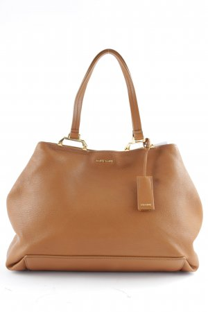 "Miu Miu Carry Bag ""Madras Shopping Bag Cuoio "" cognac-coloured"