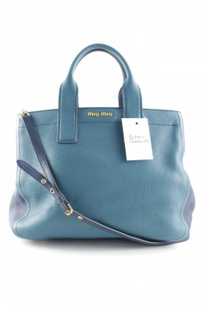 Miu Miu Carry Bag petrol-dark blue street-fashion look