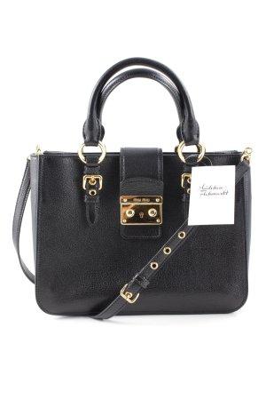 Miu Miu Carry Bag black-gold-colored elegant