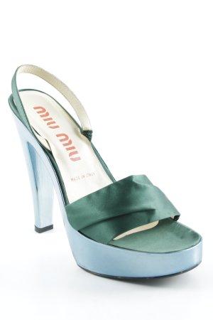 Miu Miu High Heel Sandal light blue-forest green party style