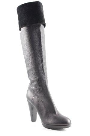 Miu Miu High Heel Stiefel schwarz Street-Fashion-Look