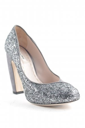 Miu Miu High Heels grau Party-Look