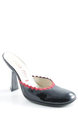 Miu Miu High Heels schwarz-dunkelrot extravaganter Stil