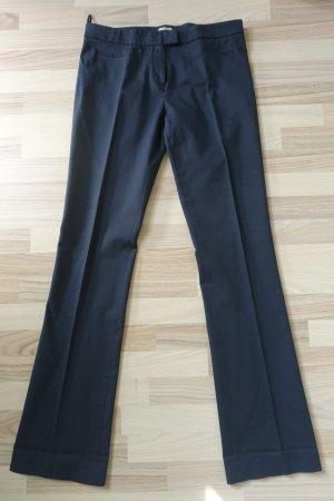 Miu Miu Pantalon à pinces bleu foncé coton