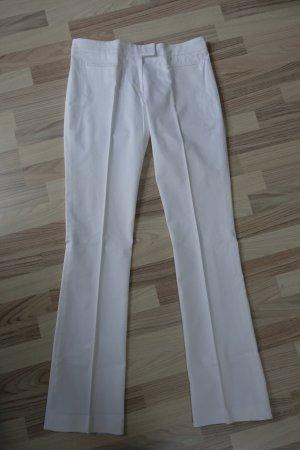 Miu Miu Pantalon à pinces blanc coton