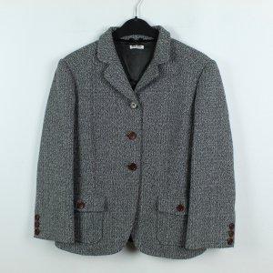 Miu Miu Veste mi-saison gris anthracite tissu mixte
