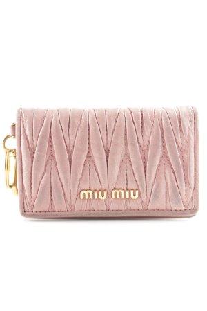 Miu Miu Porte-cartes vieux rose-doré style simple