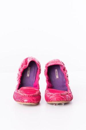 MIU MIU - Lack-Ballerinas Pink