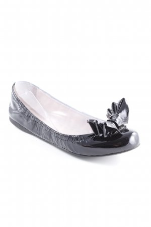 Miu Miu Lackballerinas schwarz Glanz-Optik