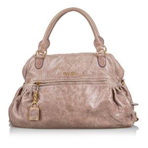 Miu Miu Shoulder Bag beige leather