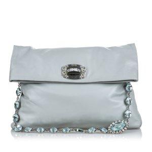 Miu Miu Leather Crystal Shoulder Bag