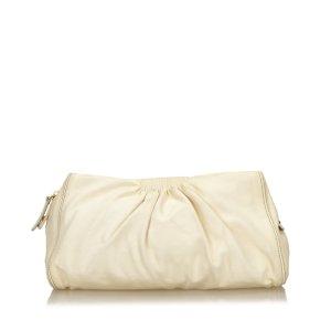 Miu Miu Leather Gathered Clutch