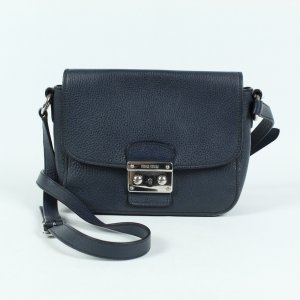 MIU MIU Ledertasche blau - Vitello Phenix Madras (19/09/246)